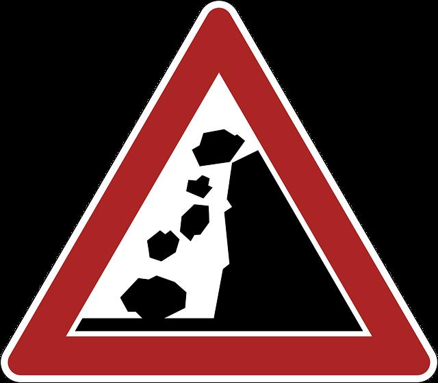 Crash Warning Danger Sign