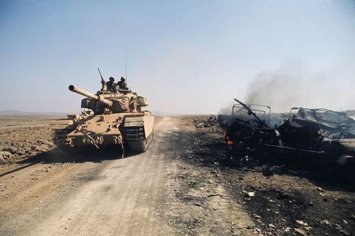 Israeli Tank on the Golan Heights