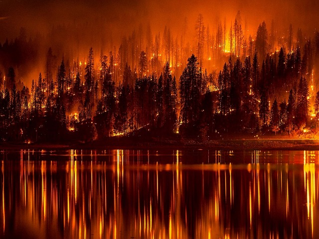 Wildfire Lake - Public Domain