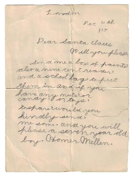 100 Year Old Christmas List - Homer Mellen