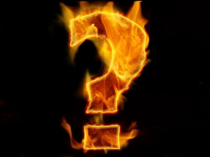 Question Mark Burning - Public Domain