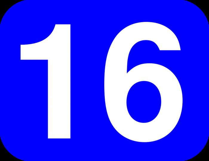 16 Sign - Public Domain