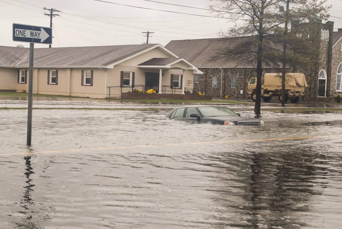 Flooding - Photo by the National Guard