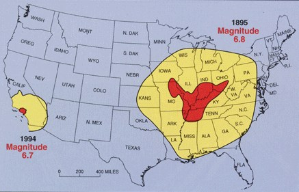New Madrid Fault Earthquake Zone