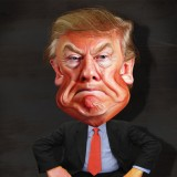 Donald Trump Caricature - Photo from Max Goldberg