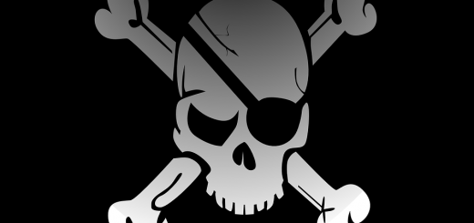 Skull Crossbones Flag - Public Domain