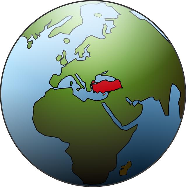 Turkey On A Globe - Public Domain
