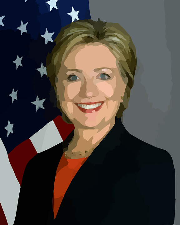 Hillary Clinton Abstract - Public Domain