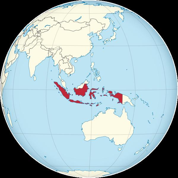 Indonesia Map On A Globe \u2013 Photo by TUBS