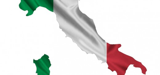 Italy Flag Map - Public Domain