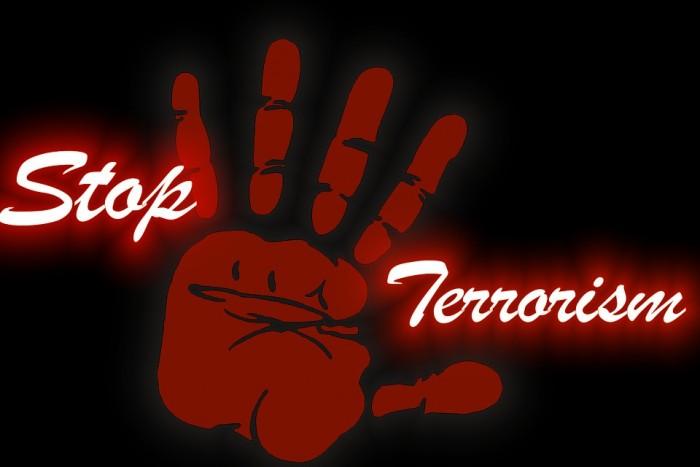 Stop Terrorism Hand - Public Domain