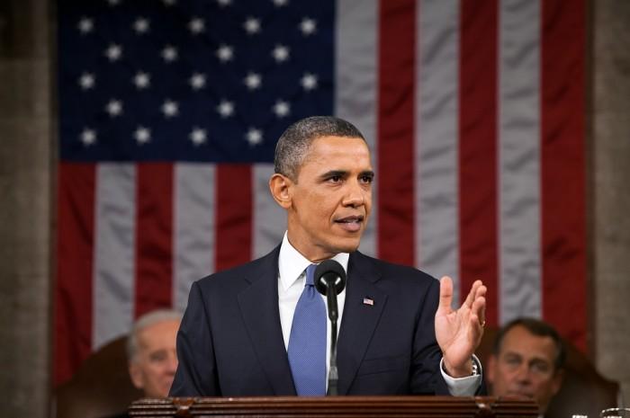 Barack Obama Giving A Speech - Public Domain