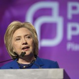 Hillary Clinton at Planned Parenthood - Photo by Lorie Shaull