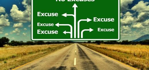 No Excuses Road Sign - Public Domain