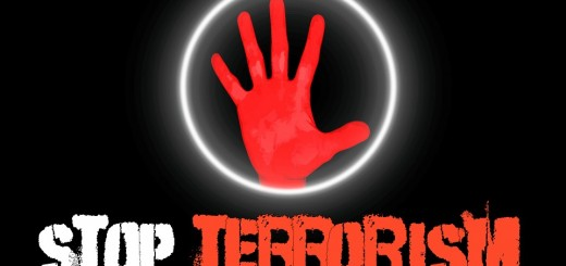 Stop Terrorism Red Hand - Public Domain