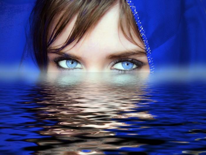 Woman Eyes Water - Public Domain