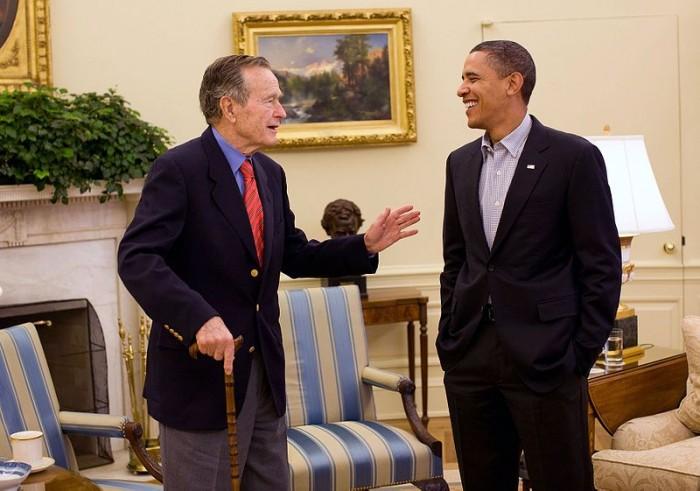 George H.W. Bush And Barack Obama
