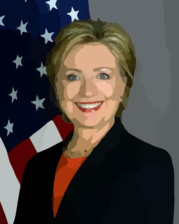 Hillary Clinton Abstract - Public Domain