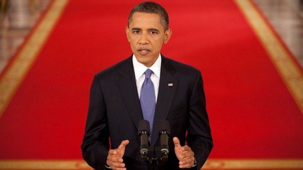 Obama Giving Speech - Public Domain
