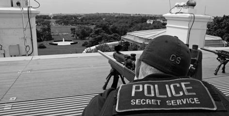 Secret Service On White House Roof - Public Domain