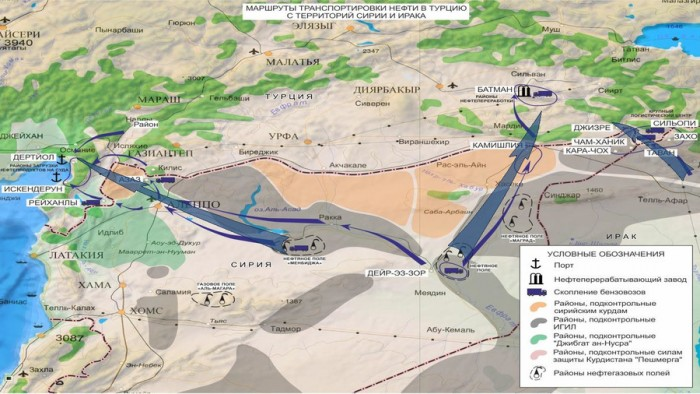 Oil Smuggling From Syria And Iraq To Turkey